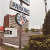 5/29/97 free parking-- Takaaki Iwabu photo-- The parking lot on 2nd and Niagara Street allow tourists park free. (for Don's story on competition of parking site between U.S. and Canada.)<br /> <br /> 1A, Friday
