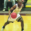 1/22/97--TIM WINN ACTION--CAPPY PHOTO--TIM WINN MOVES UP THE COURT DURING THE NU GAME.<br /> <br /> SP