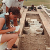 97/08/16-- archaeology --Takaaki Iwabu photo-- Archaeologists Donna Higgins and David Guild check the findings at Old Fort Niagara Saturday. <br /> <br /> tmc photo