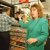 97/10/08-- robbery --Takaaki Iwabu photo-- Barbara Piccirelli, owner of Kim's Konvenient Korner, talks about Tuesday's night incident at her store (She fought back with a robber ... see Mary's story for detail). <br /> <br /> 1A, Thursday, color
