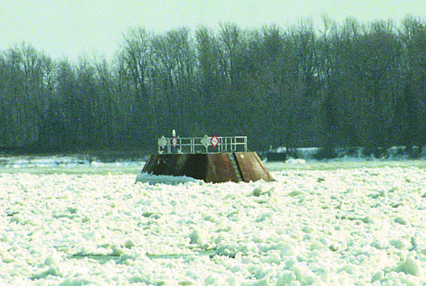 1/17/97 Water Intake Niagara - James Neiss Photo - The water intake in the Niagara River for the NF water treatment plant.