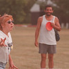 8/1/97 J. Davis Park 2--Takaaki Iwabu photo-- Theresa Smith and Dave Spotts of Buffalo play disk golf at Joseph Davis State Park Friday. The two visit the Park once in a week.