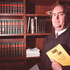 97/09/25--FAMILY COURT--DAN CAPPELLAZO PHOTO---NIAGARA COUNTY FAMILY COURT JUDGE JOHN BATT STANDS IN HIS CHAMBERS ON THE SECOND FLOOR OF THE COUNTY BLD., LOCKPORT.