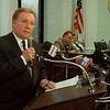 11/7/97-- Mayor Galie --Dan Cappellazzo photo-- Niagara Falls Mayor Jim Galie at City Hall...