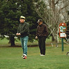 98/12/07 Golf in Dec *Dennis Stierer Photo <br /> Joe LaMarca and Lou Morell get set to tee off at the Shawnee Country Club on Townline Rd. Monday afternoon.