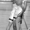 2/4/97--GIRLS HOOPS/B&W--DAN CAPPELLAZZO PHOTO--LOCKPORTS SADIE TAYLOR COMES DOWN WITH THE BALL IN FIRST HALF ACTION.
