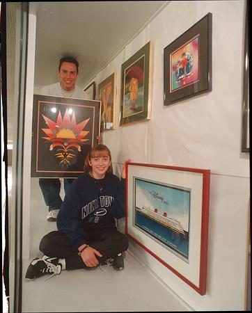 97/09/22 NW Art - James Neiss Photo - Niagara Wheatfield Art. L-R - Randy Greene 17/11 and Maria Bax 16/11th