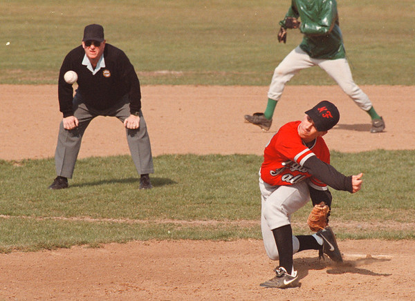 4/24/97 LewPort at NF - James Neiss Photo - NF Pitcher #25 Vinny Girardo pitches against LewPort.