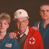 2/16/97--RED CROSS FAMILY--DAN CAPPELLAZZO PHOTO--(LTOR)19-YR-OLD HEIDI STURTEVANT, HER 78-YR-OLD GRANDFATHER JAY AND HER FATHER KARL ALL VOLUNTEER AT THE CROSS.<br /> <br /> ECHO