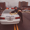 4/17/97 Fatal Shooting Sceen - James Neiss Photo - L-R - Capt. Andrew Viglucci and Capt. Gordon Warme surround the Fatal Shooting Sceen with police tape. <br /> <br /> Pine Ave between 10th and Portage.