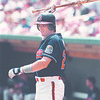 6/25/97--bisons 1-Takaaki Iwabu photo-- Buffalo Basons #24 .................... loosens up during Wednesday's game against Oklahoma. <br /> <br /> sports, Thursday