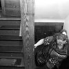 1/5/97--MENTAL HOME 4--CAPPY PHOTO--KELLY MAKES HER WAY UP THE STAIRS.