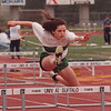 5/30/97 Track 2 - James Neiss Photo - Lewports Dawn Pickwell competes in the Girls Class B 100 High Hurtles Semi Final at the Section VI State Qualifier at UB.