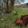 5/1/97--NORTH END GARBAGE--DAN CAPPELLAZZO PHOTO--DISGARDED FURNITURE AND REFUSE FILL A LOT NEAR NORTH AND MAIN STREET.<br /> <br /> OPINION PG