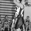 2/20/97--HOOPS/B&W--CAPPY PHOTO--NW ANGELA TYLEC GOES FOR THE JUMPER.