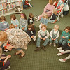 98/02/17--LEWISTON LIBRARY--DAN CAPPELLAZZO PHOTO--LEWISTON LIBRARY STORY HOUR PROGRAM INSTRUCTOR JEAN VAN TASSELL PASSES OUT COOKIES TO THE PRE SCHOOL KIDS (AGE 3-5).<br /> <br /> 1A WEDNESDAY