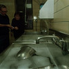 97/11/21 Health DPT - James Neiss Photo - L-R - Niagara County Health Department Public Health Tecnicians William Moore and Roberta Harper check sanitation solution in a 3 compartment sink with chlorine test strips. The health Dpt. sponsors a class for resturant personel who want to know the regulations.