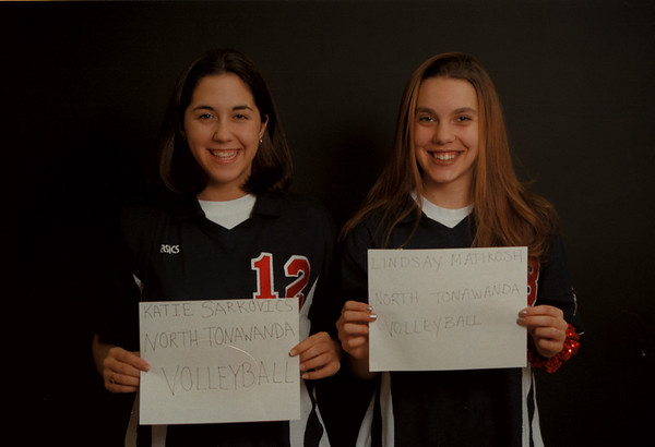 97/12/12 Sarkovics/Matikosh Rachel Naber Photo-Katie Sarkovics,N.Tonawanda,Volleyball/Lindsay Matikosh,N.Tonawanda,Volleyball