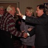 98/11/03 Maziarz Wins *Dennis Stierer Photo -<br /> George Maziarz gets congratulations from supporters at the Best Western Tuesday night as he retains his seat for State Senator, 61st District. Standing to his immediate left is his girlfriend Beverly Denny.