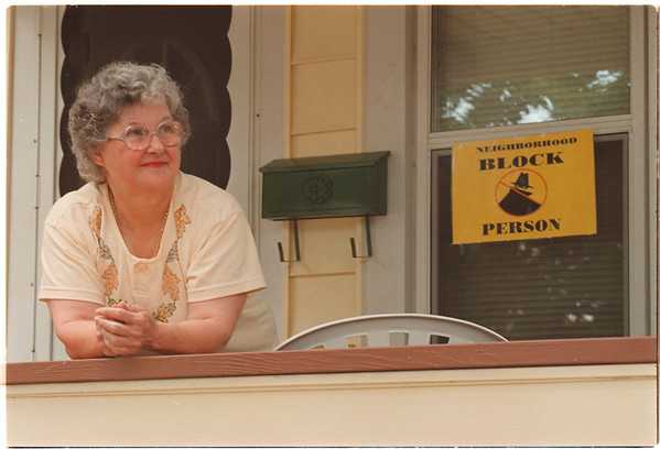 97/08/08 Block Person - James Neiss Photo -  Block Person, Rose Reece of 2903 North Ave.