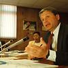 5/22/97--board meeting 1--Takaaki Iwabu photo-- School Superintendent Carmen Granto talks about the plan of building a new high school in Niagara Falls. <br /> <br /> 1A, Friday
