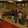 98/11/09 Brownie Troop 47 - James Neiss Photo - L-R - Brownie members learn pledge at Niagara Street school where they are looking for a Troop Leader - Edna Stubbs, program sevices/field Dorector, subbing as troop leader,  Amber Slocombe 8yrs/3rd grade, Felicia Harris 8/3, Stephanie Cevaer 8/2 and Nicole Travick 18 yrs, who is a volunteer candidate for the troop.