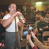 98/02/19--HOSPITAL COMMUNTIY MEETING--DAN CAPPELLAZZO PHOTO--LEN BUTSKI, A MMC EMPLOYEE AND RESIDENT OF LEWISTON, SPEAKS OUT ABOUT THE MERGER AT THE ABATE SCHOOL COMMUNITY FORUM.<br /> <br /> 1A