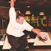 98/02/05--LASALLE BOWLING--DAN CAPPELLAZZO PHOTO--LASALLE SR. MICHAEL CASERO, AVERAGE. 193, THROWS THE HARD BALL AT BERVERLY LANES.<br /> <br /> SP