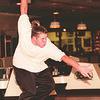 98/02/05--LASALLE BOWLING--DAN CAPPELLAZZO PHOTO--LASALLE SR. MICHAEL CASERO, AVERAGE. 193, THROWS THE HARD BALL AT BERVERLY LANES.<br /> <br /> SP