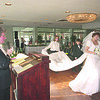 1/12/96--BRIDAL SHOW--CAPPY PHOTO--BRIDAL SHOP OWNER AND MC JOAN HASTEE MC'S A BRIDAL SHOW A THE BEST WESTERN AS BRIDE AMY  NALBO  WALKS FOR THE CROWD.<br /> <br /> ECHO