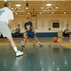 98/12/01 Lockport Lions - Vino Wong Photo - Coach Macaluso puts his team through some drills workout at the Lockport Hight School Tuesday.