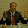 98/09/10 Pataki  - James Neiss Photo - Governer George E. Pataki talks to the Greater Niagara Newspapers Editorial Board at the Tonawanda News.