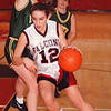 2/20/97--HOOPS--DAN CAPPELLAZZO PHOTO--NW'S _______________ BATTLES UNDER THE BOARDS IN FIRST HALF ACTION AT NW HIGH.<br /> <br /> SP