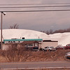 2/27/97--GOLF DOME/B&W--DAN CAPPELLAZZO PHOTO--THE GOLF DOME IS DEFLATED BY HIGH WINDS.<br /> <br /> 1A