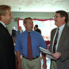 98/10/06 United Way Kickoff *Dennis Stierer Photo -<br /> Doug Capell, Industry Campaign Head and Dick Hellert, Education Campaign Head talk with Jack Beedon, Campaign Chairman about the current campaign during a kick off breakfast Tuesday morning.