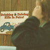 "98/01/03--driving school 2--Takaaki Iwabu photo-- A sign that reads ""Drinking & Driving Kills In Paris!"" was hang in classroom at Niagara Driving School."