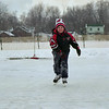 98/01/21 First Time On Ice*Dennis Stierer photo - Benjamin Chiappone,7 tries out his new skates, as this is his first time out on the ice. Benjamin is a very good rollerblader, so the transition to ice was easy.