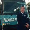 7/10/97 bus tour 2--Tak photo-- Mark Whitley, driver of Niagara Scenic's charter bus.