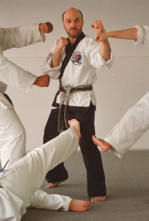 4/24/97 John Presti 2 - James Neiss Photo - Presti of Presti School of Karate to be honored at the Karate Hall of Fame.