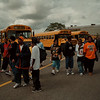 98/09/08 First Day - James Neiss Photo - LaSalle high school students get ready to board busses at the end of the first day of school.
