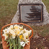 4/19/97-- memorial OK 2--Takaaki Iwabu photo-- The little plaque, which is dedicated to the children who killed by Oklahoma City Bomb, was placed on Hyde Park during the ceremony.