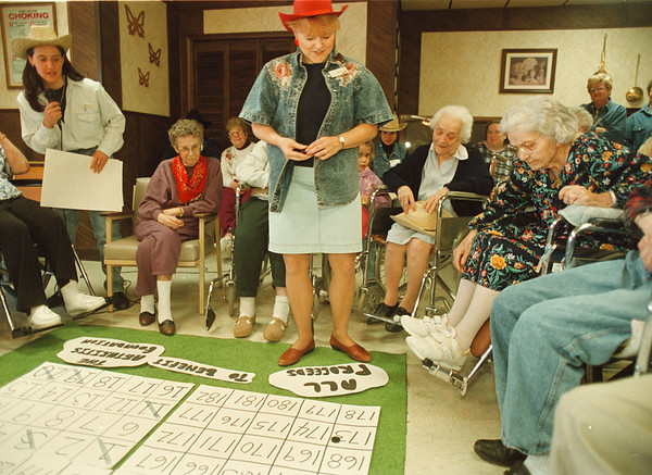 5/16/97--cowchip bingo 1--Takaaki Iwabu photo-- An overall shot of cowchip bingo at Fairchild Manor in Lewiston. <br /> <br /> tmc photo