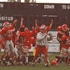 97/09/20 HS football 3--tak photo-- NF players react to the winning play.