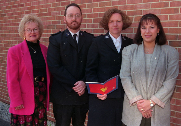 98/04/22 Salvation Army-Rachel Naber Photo-(left to right) Freda Palia, Chairperson, Charles Foster, Envoy, beth Foster, Envoy, Theresea Cappola, Comittee member.