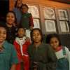 97/12/15-- The Brinsons --Takaaki Iwabu photo-- Antionette Brinson, second from left, stands in front of her apartment with her six children she is raising with her husband Dennis Brinson. Children are Cornelius, Krystle, Kandice, Krishona, Dennis and Karissa.   --for Christmas letter story<br /> <br /> feature, Sunday, color
