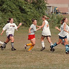 97/08/20 LaSalle Girls Soc  2 -  James Neiss Photo - Low 5 greeting durring a jog pass by durring practice..