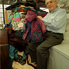 98/11/09 Coat Donation - James Neiss Photo - Joe Petrozzi, Owner of Capital Cleaners comes to the rescue of the Childrens Clothing Center with a large donation of winter coats.