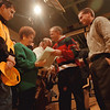 98/12/11 Marasco - Vino Wong Photo - Coach Patrick Monti embraces the Marasco family and dedicating this season to Richard A. Marasco before the game between Niagara Wheatfield at LaSalle High School Friday.