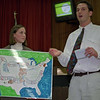"""97/12/07--STARPOINT MEETING/ART--DAN CAPPELLAZZO PHOTO--(LTOR)BFLO. STATE STUDENT TEACHERS JENNIFER DIETRICH AND JEFF SCANLON EXPLAIN THE CREATIVE TEACHING PROGRAM THEY DESIGNED ON THE AMERICAN INDIANS DURING THE STARPOINT SCHOOL BOARD MEETING MONDAY EVE.<br /> <br /> TUESDAY FOLDER/38P6 x4.75"""""""