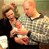 99/01/04 new yr baby--dan cappellazzo photo--damon chance gerhard, brought into the world on jan 1st at 8:15 am his held by parents craig gerhard and sheila secrist at their church st home.